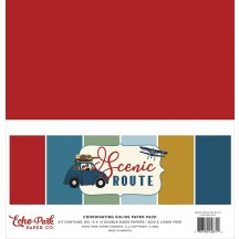 "Echo Park Scenic Route 12""x12"" Solids Paper Kit SR212015"