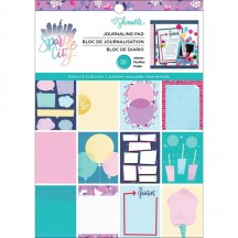 "American Crafts Shimelle Sparkle City 6""x8"" Journaling Pad Pad 351327"