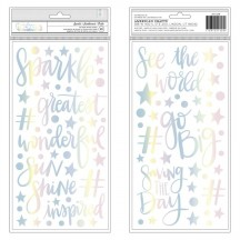 American Crafts Shimelle Sparkle City Holographic Foil Foam Phrase Thickers 351328