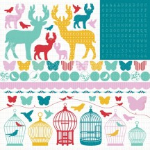 "Kaisercraft 12""x12"" Icon, Alpha & Border Stickers - Hummingbird SS123"