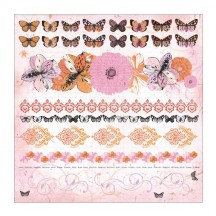 "Kaisercraft 12""x12""  Icon & Border Stickers - Tigerlilly SS128"
