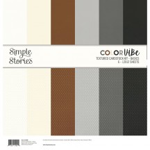 "Simple Stories Color Vibe Neutral Basics 12""x12"" Textured Cardstock Kit 13406"