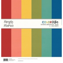 "Simple Stories Color Vibe Bolds 12""x12"" Textured Cardstock Kit 13414"