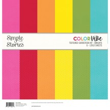 "Simple Stories Color Vibe Brights 12""x12"" Textured Cardstock Kit 13422"