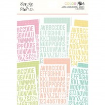 Simple Stories Color Vibe Lights Alpha Sticker Book 13431