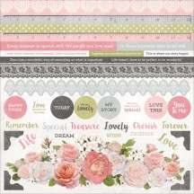 "Kaisercraft Cottage Rose 12""x12"" Sticker Sheet SS311"