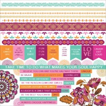 "Kaisercraft Bombay Sunset 12""x12"" Sticker Sheet SS339"