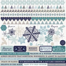 "Kaisercraft Wonderland 12""x12"" Christmas Sticker Sheet SS370"