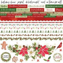 "Kaisercraft Peace & Joy 12""x12"" Christmas Sticker Sheet SS371"