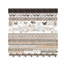 "Kaisercraft Whisper 12""x12"" Sticker Sheet SS379"
