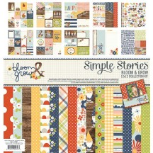 """Simple Stories Bloom & Grow 12""""x12"""" Collection Kit 7100"""