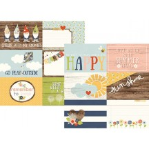 "Simple Stories Bloom & Grow 12""x12"" Double Sided Cardstock - 4x6 Horizontal Journaling Card Elements 7111"