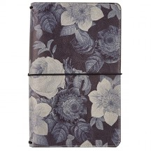 Simple Stories Carpe Diem Black Vintage Floral Traveler's Notebook 7944