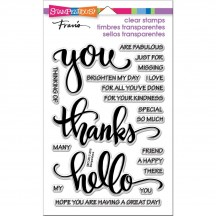 Stampendous Big Words Thanks Clear Stamps SSC1283