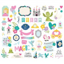Simple Stories Little Princess Bits & Pieces Die-Cut Cardstock Embellishments 10569