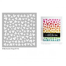 My Favorite Things MIX-ables Lots Of Hearts Stencil ST-116