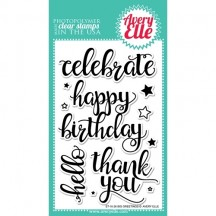 Avery Elle Big Greetings Clear Stamps ST-16-26