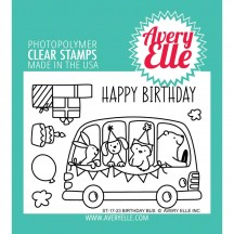 Avery Elle Party Bus Clear Stamps ST-17-23