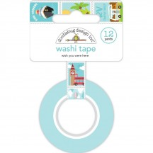 Doodlebug I Heart Travel Wish You Were Here Decorative Washi Tape 6345