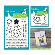 Lawn Fawn How You Bean? Star Add-On Clear Stamp & Die Set LF1690 LF691