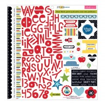 "Bella Blvd Star Student 12""x12"" Treasures & Text Stickers 863"