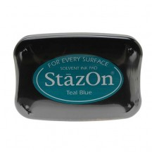 Tsukineko StazOn Solvent Ink Pad - Teal Blue