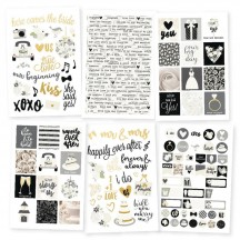 Simple Stories Always & Forever Wedding Stickers 10075