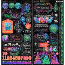 "Graphic 45 Kaleidoscope 12""x12"" Die-cut Cardstock Element Stickers 4501860"