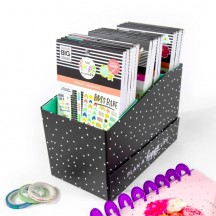 Me & My Big Ideas The Happy Planner Black & White Polka Dot Sticker Storage Box STORS-02