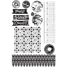Prima Marketing Sunrise Sunset Rubber Cling Stamps 960100