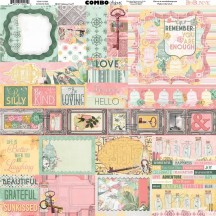 "Bo Bunny Sunshine Bliss 12""x12"" Element & Border Combo Stickers 7310201"