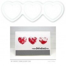My Favorite Things Heart Trio Shaker Pouches SUPPLY-4020