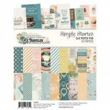"Simple Stories Simple Vintage Traveler 6""x8"" Double-Sided Paper Pad 10465"
