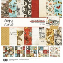 "Simple Stories Simple Vintage Ancestry 12""x12"" Collection Kit 14100"