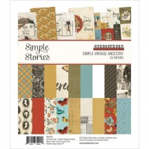 "Simple Stories Simple Vintage Ancestry 6""x8"" Double-Sided Paper Pad 14119"