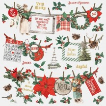 "Simple Stories Simple Vintage Country Christmas 12""x12"" Banner Stickers 11302"