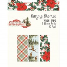 Simple Stories Simple Vintage Country Christmas Washi Tape 3 Roll Pack 11326