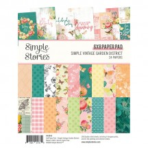 "Simple Stories Simple Vintage Garden District 6""x8"" Double-Sided Paper Pad 12515"