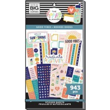 Me & My Big Ideas The Happy Planner Good Vibes Student Classic Value Pack Stickers SVP130-005