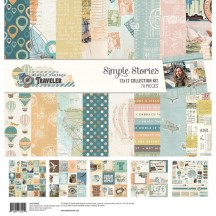 "Simple Stories Simple Vintage Traveler 12""x12"" Collection Kit 10446"