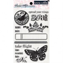 Teresa Collins Clear Stamp Set - Sweet Afternoon