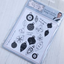 Sentimentally Yours Decorative Baubles Montage A6 Clear Stamps by Phill Martin