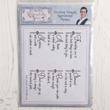 Sentimentally Yours Decadent Damask Inspirational Phrases A5 Clear Stamps by Phill Martin