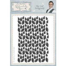 Sentimentally Yours A6 Cling Stamps by Phill Martin - Chic Leaf Background - SYCHLB