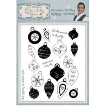 Sentimentally Yours A6 Clear Stamps by Phill Martin - Decorative Baubles Montage Collection - SYDBMC