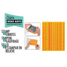 Sizzix & Hero Arts Fun Stripes Textured Impressions Embossing Folder & Stamp 658281