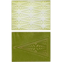 Sizzix Winter Leaves Textured Impressions Embossing Folders 658627 Paula Pascual
