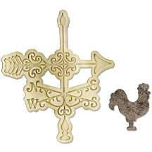Sizzix Bigz Die & Embossing Folder- Weathervane - 658965