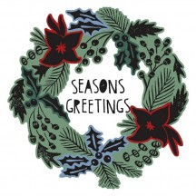 Sizzix Seasons Greetings Framelits Stamp & Dies 660064 - Tim Holtz Alterations