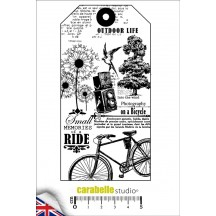Carabelle Studio Art Stamp Tag: Outdoor Life Cling Rubber Stamp SA60094E